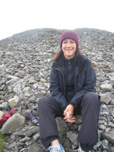 On Knocknarea, at the foot of Medb's Cairn