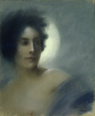 Woman with a Crescent Moon (or) The Eclipse, by Paul Albert Besnard - 1888